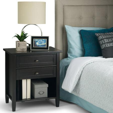 Simpli Home Warm Shaker Bedside Table
