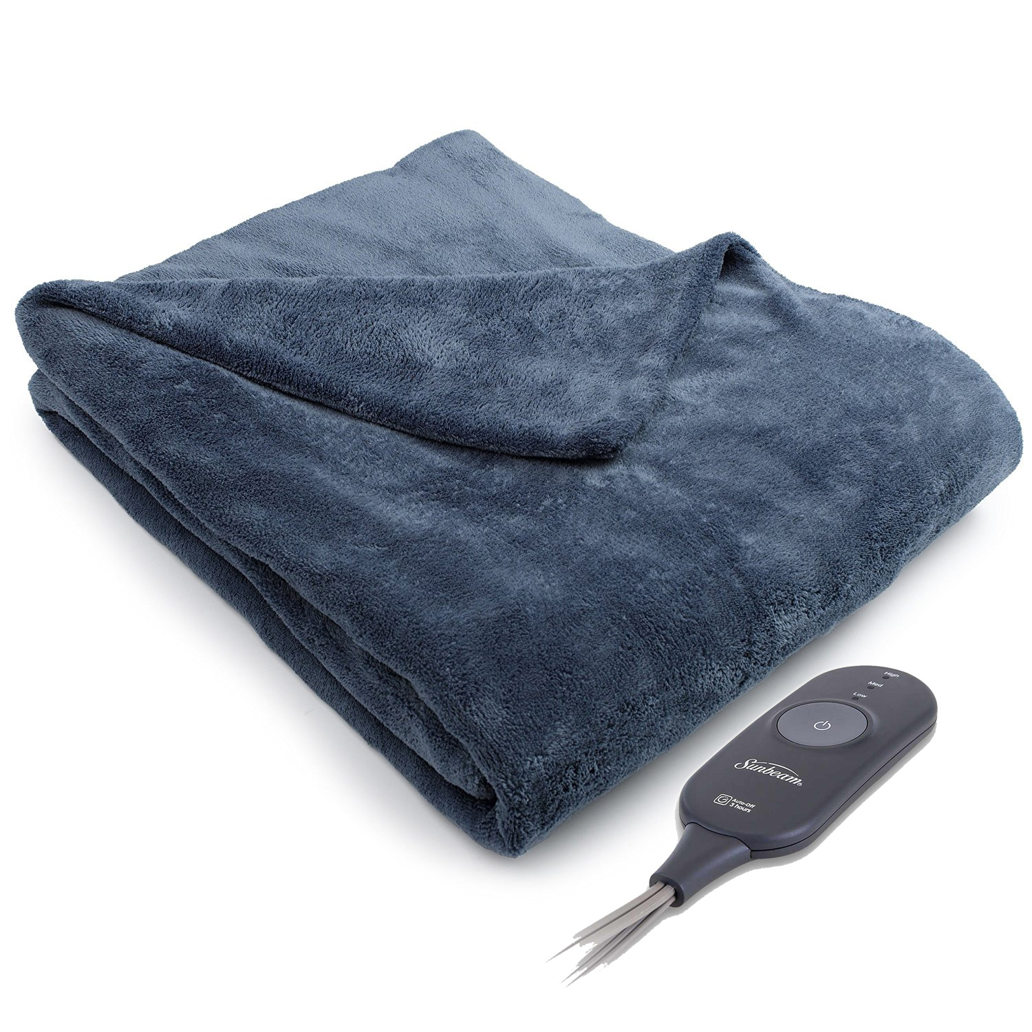 Sunbeam Microplush Electric Heated Throw Blankets TB16 - Assorted Colors