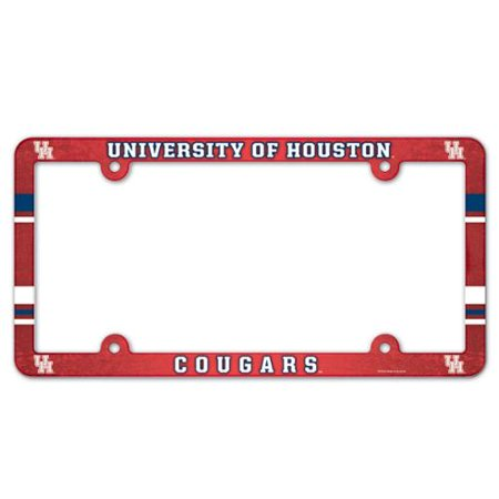 Ncaa Plastic License Plate Frame - Houston Cougars Official NCAA 12 inch x 6 inch Plastic License Plate Frame by WinCraft
