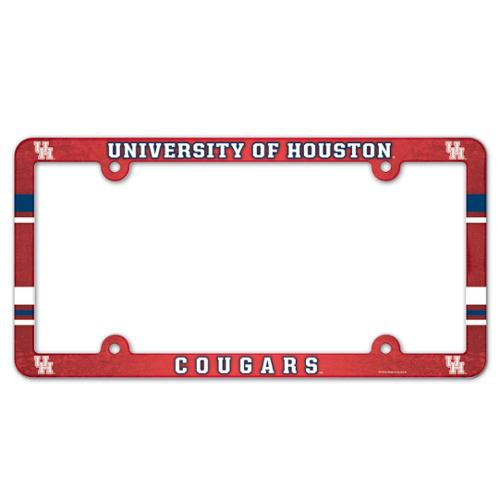 Houston Cougars Official NCAA 12 inch x 6 inch  Plastic License Plate Frame by WinCraft
