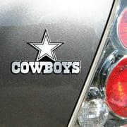 NFL Dallas Cowboys Chrome Automobile Emblem - Generic Brand