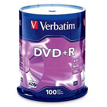 Verbatim DVD+R (4.7 GB) (16X) Branded Surface (Pk=100/Spindle)