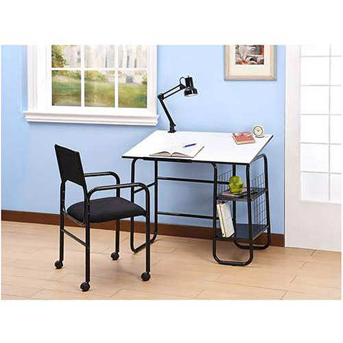 Student Desk with Lamp and Chair Value Bundle, Multiple Colors