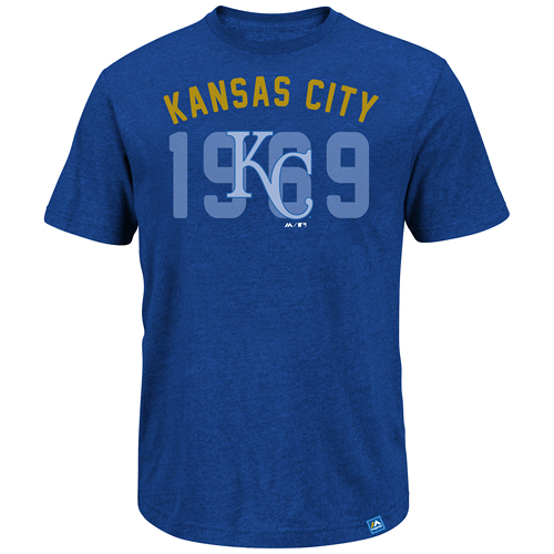Kansas City Royals Majestic Three Base Hit T-Shirt Royal by MAJESTIC LSG