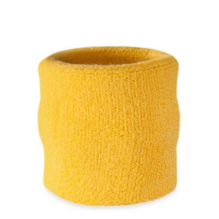 Suddora Wrist Sweatband Athletic Cotton Terry Cloth
