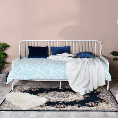 HOMY CASA Line Shaped Day Bed Metal Single Sofa Bed Frame