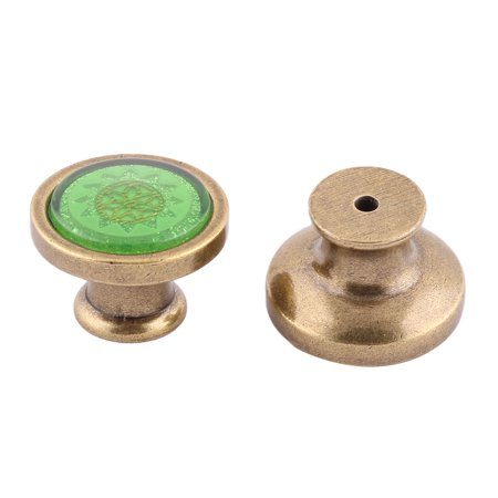 Sm Pull Green - Uxcell Home Acrylic Flower Print Cabinet Dresser Furniture Knob Pull Handle Green 2pcs