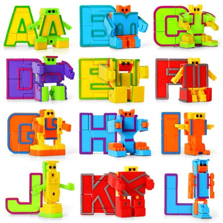 miYou Alphabet Robot Toys Set for Kids ABC Learning for Preschool Education 26 Pieces/Set - Kids Learning Toys