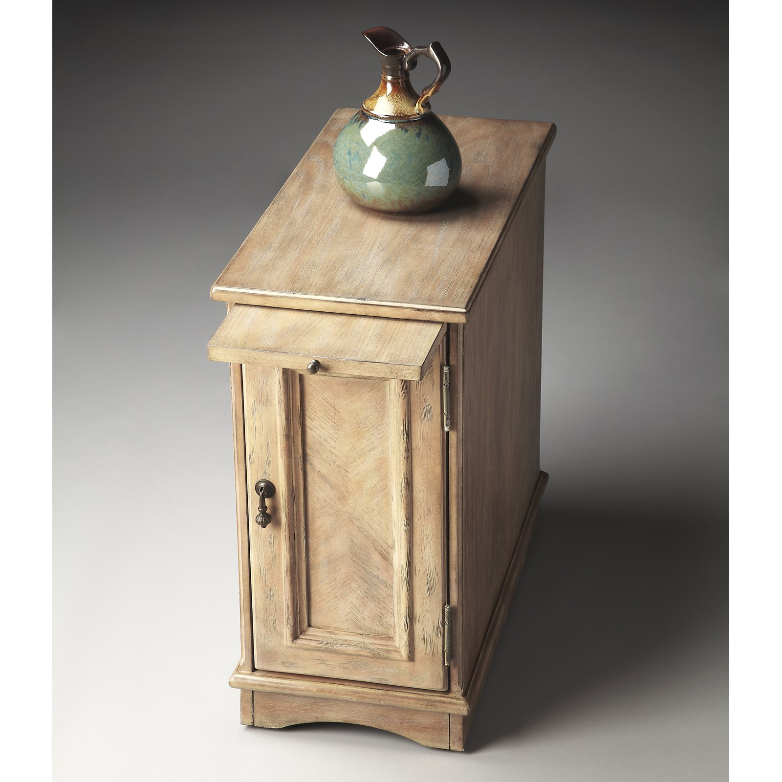 Butler Chairside Chest - Driftwood