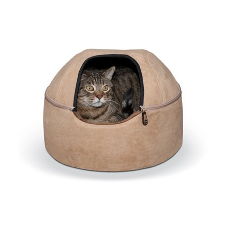 K&H Pet Products Kitty Dome Cat Bed, Small, (Tan Cat Bed)