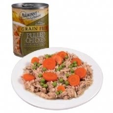 Image of Against the Grain Hand Pulled Chicken All Stages Wet Cat Food, 13 Oz, 12 Ct