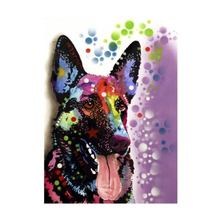 German Shepherd Print Wall Art By Dean Russo