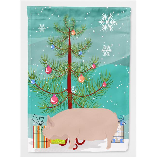 Carolines Treasures BB9304GF Welsh Pig Christmas Flag Garden - Size - image 1 of 1