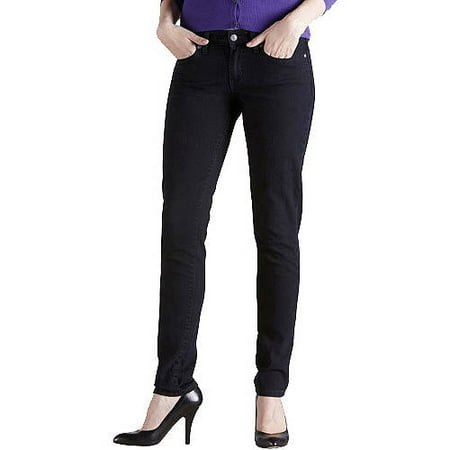 Women's Mid Rise Skinny Jeans Available in Regular and Short Lengths