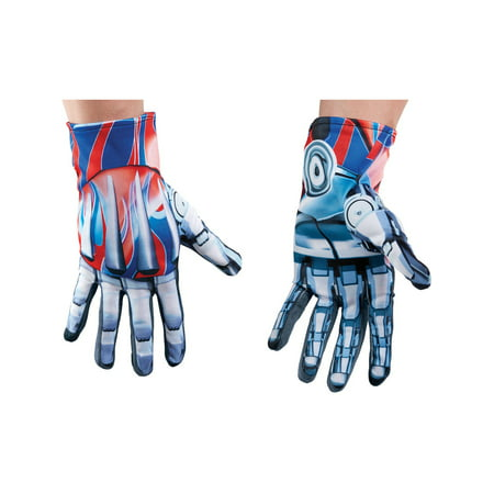 Mens Transformers The Last Knight Optimus Prime Gloves Costume Accessory - Optimus Prime Transformer Halloween Costume