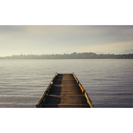 LAMINATED POSTER Nature Pier Wooden Lake Water Dock Wood Tranquil Poster Print 24 x 36