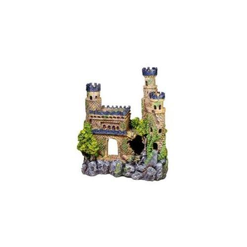 """Exotic Environments Blue Topped Medieval Castle Aquarium Ornament - Large 11.5\""""L x 5.5\""""W x 12\""""H"""