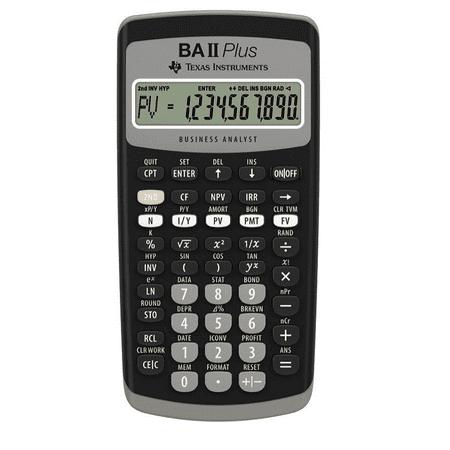 BA-II Plus Advance Financial Calculator, Dark