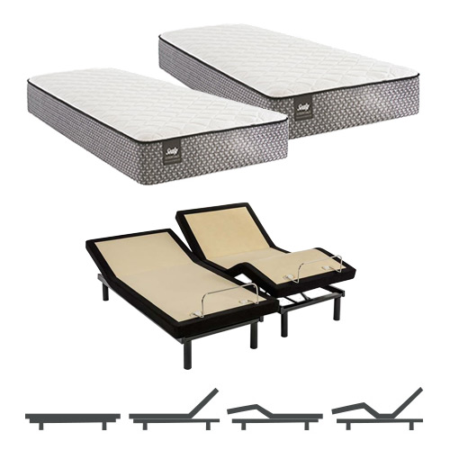 Bernstein King Size Firm Tight Top Split Mattress and Adjustable Base Sealy Response Essentials Mattress by Sealy