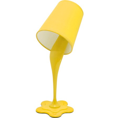 Lumisource Woopsy Lamp in Yellow Woopsy Table Lamp: Spilling paint bucket illusionGreat for tween or teen's bedroom or dorm roomsDurable fabric shadeTakes one 25 W appliance lightbulb (not included)7.5 L x 5.5 W x 15.5 HUL listedAssembly requiredModel# LS-L-WOOPSY HP