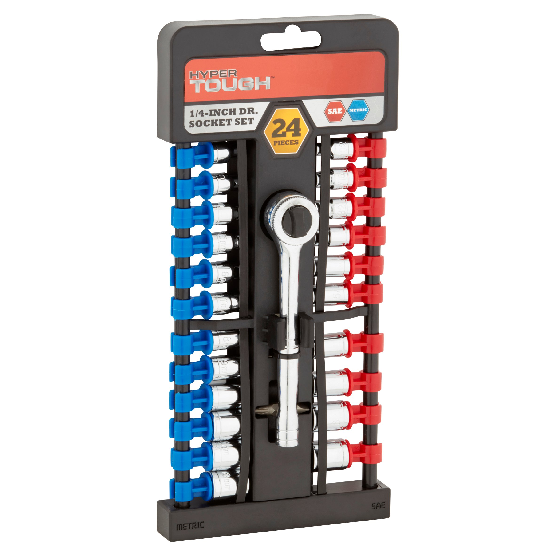 Hyper Tough 23-Piece Ultra Steel SAE and MM Socket Set