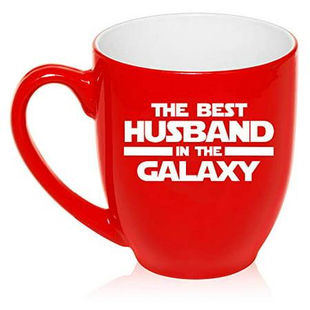 16 oz Large Bistro Mug Ceramic Coffee Tea Glass Cup Best Husband In The Galaxy - Galaxy Cup
