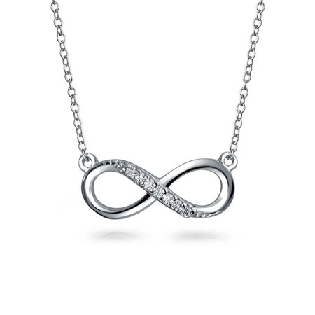 Bling Jewelry - Infinity Forever Love Pendant Figure Eight Cubic Zirconia  CZ 925 Sterling Silver Necklace For Women For Girlfriend 16 In - Walmart.com d79f20931