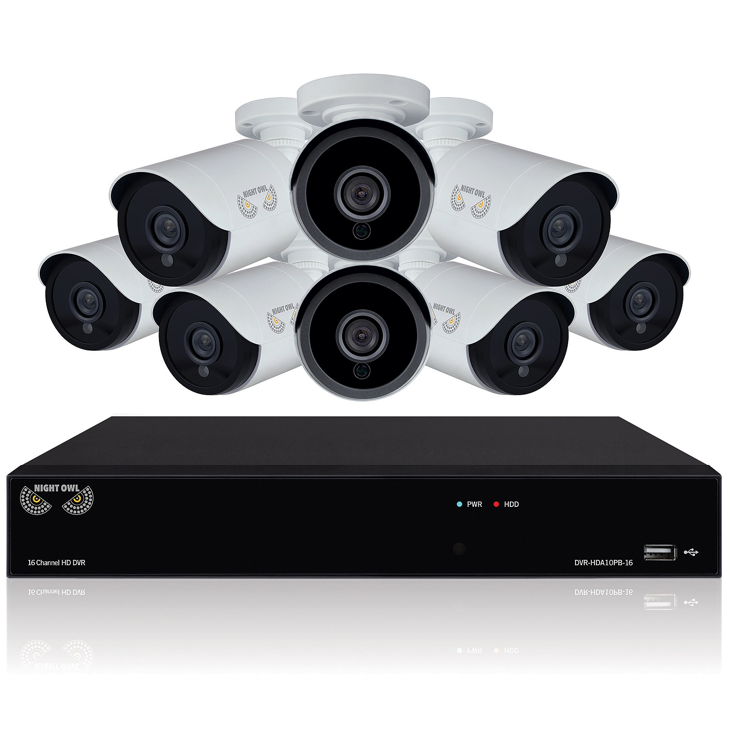 Night Owl Optics 16-Channel Security System, 8x 1080p Bul...