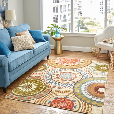 Mohawk Home Suzani Blue Printed Area Rug