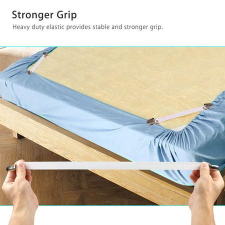 4pcs Long Crisscross Bed Sheet Band Straps Suspenders ...