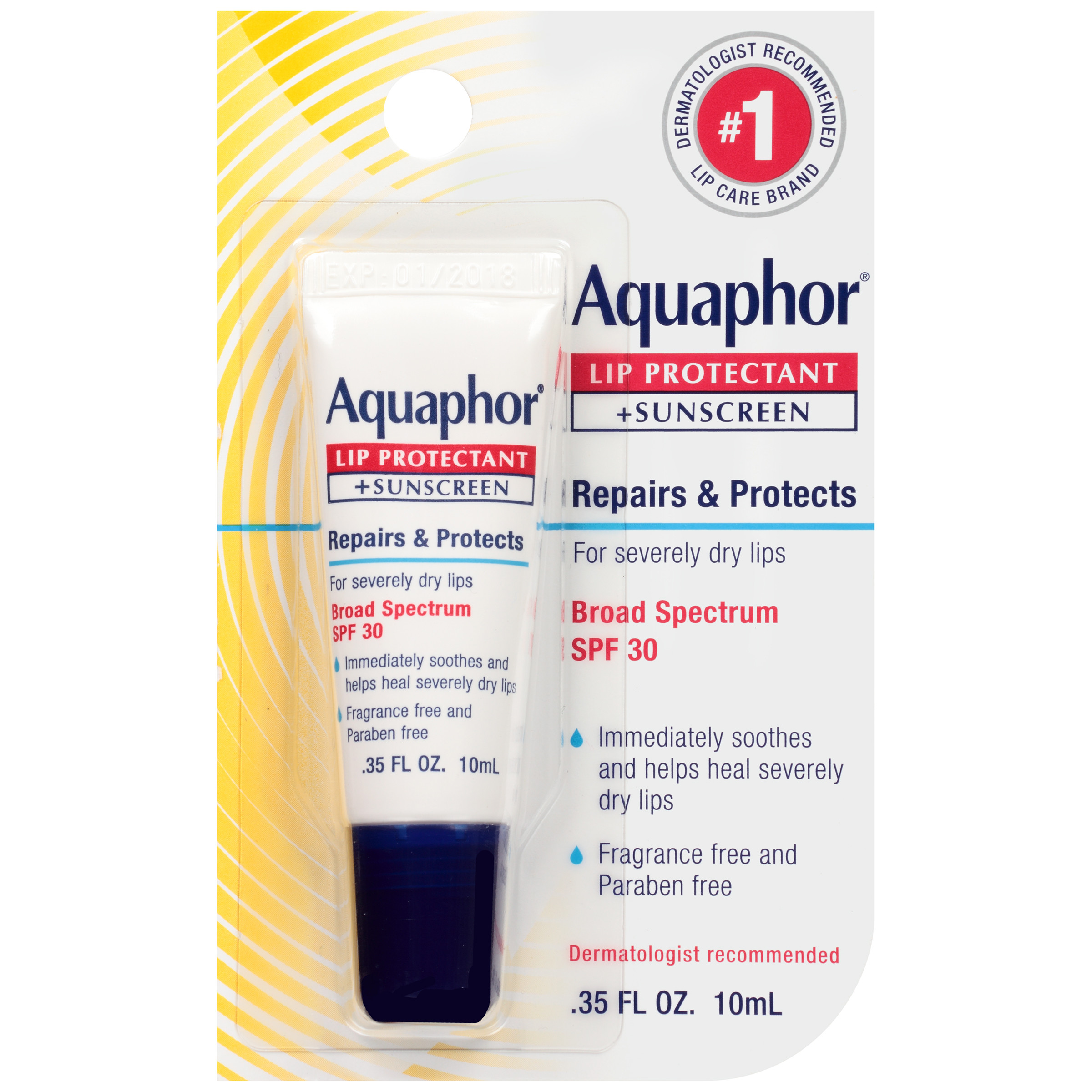 Aquaphor Lip Repair + Protect .35 fl. oz. Carded Pack