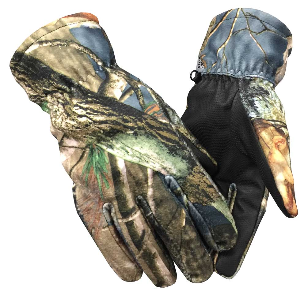 Northstar Unisex Waterproof Thinsulate Lined Camoflauge Gloves, Green/Tan. 502CA