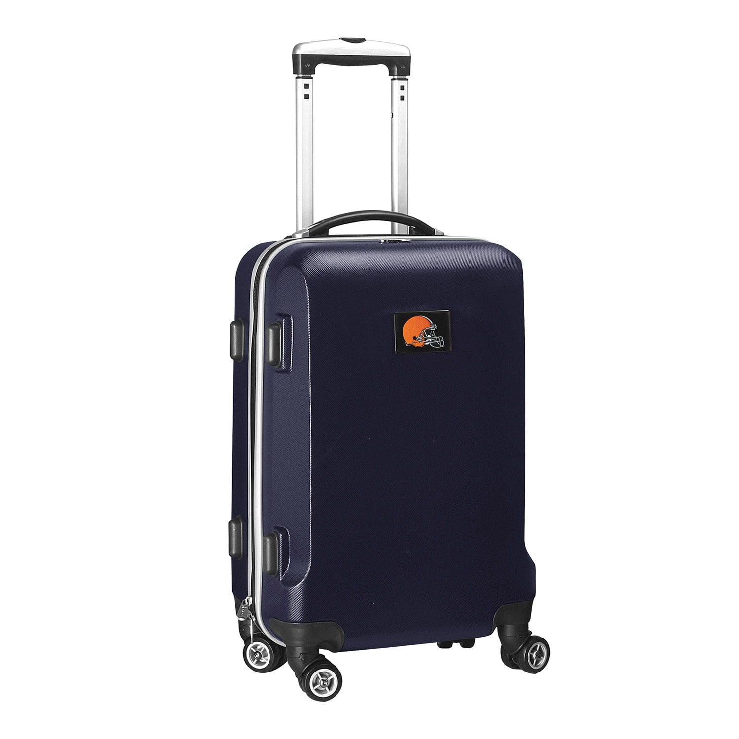 """Cleveland Browns 20"""" 8-Wheel Hardcase Spinner Carry-On - Navy"""