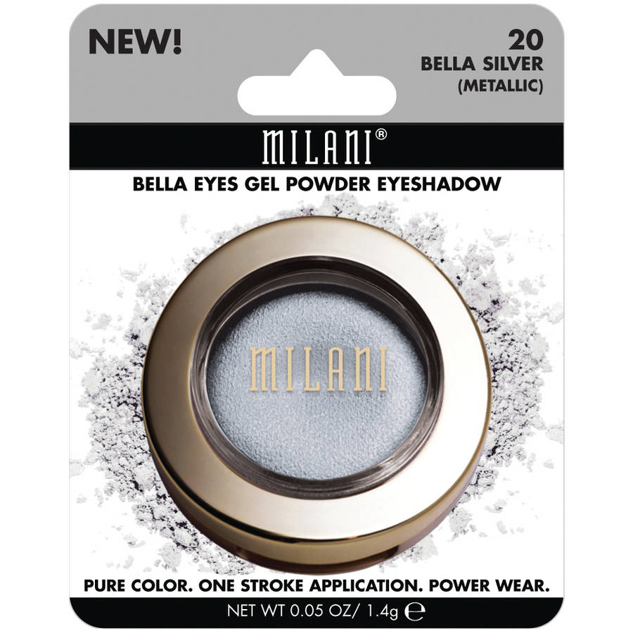 Milani Bella Eyes Gel Powder Eyeshadow, 20 Bella Silver Metallic, 0.05 oz