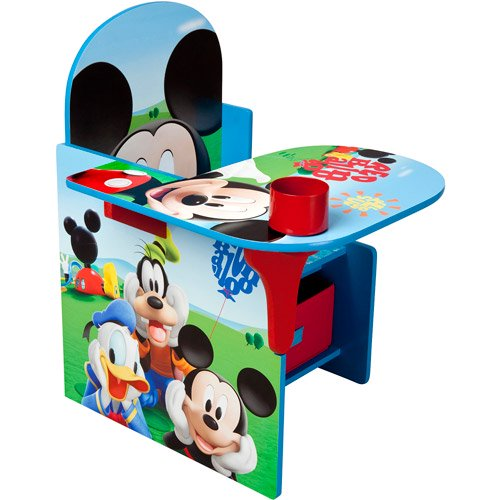 mickey mouse toddler desk chair with storage walmart com