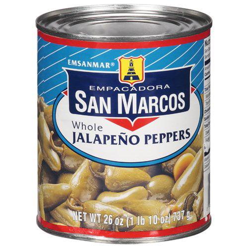 Empacadora San Marcos Whole Jalapeno Peppers, 26 oz