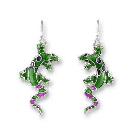 Plated Gecko - Zarah  Calypso Gecko Silver Plate Earrings