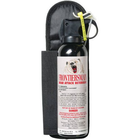 Frontiersman Bear Spray, Maximum Strength with Belt Holster & 30' (9m)  Range (7 9 oz)