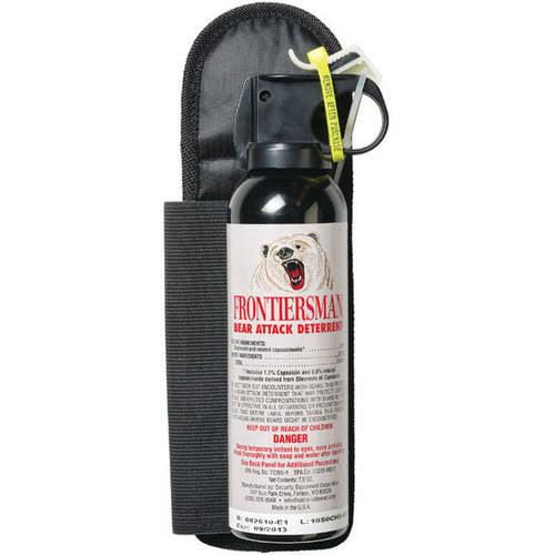 Frontiersman Bear Spray, Maximum Strength with Belt Holster & 30' (9m) Range (7.9 oz)