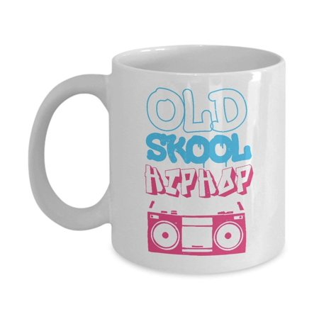 Old School Hip Hop Distressed 90s Radio Cassette Graffiti Coffee & Tea Gift Mug, Gifts, Mugs and Accessories for Hiphop Boys, Girls, Men & Women](90s Hip Hop Party Ideas)