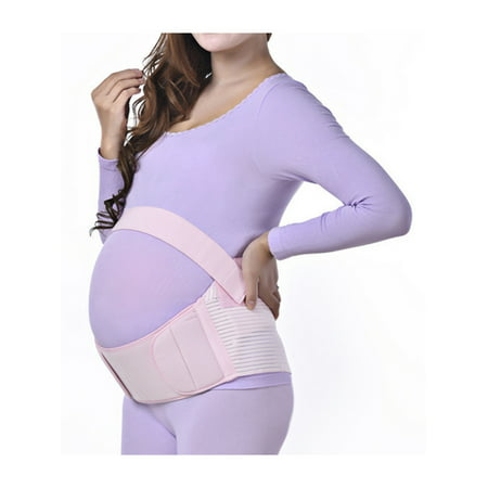 Pink XL Size Maternity Belly Band Pregnancy Back Abdominal Support Belt Brace - Pregnant Bellies