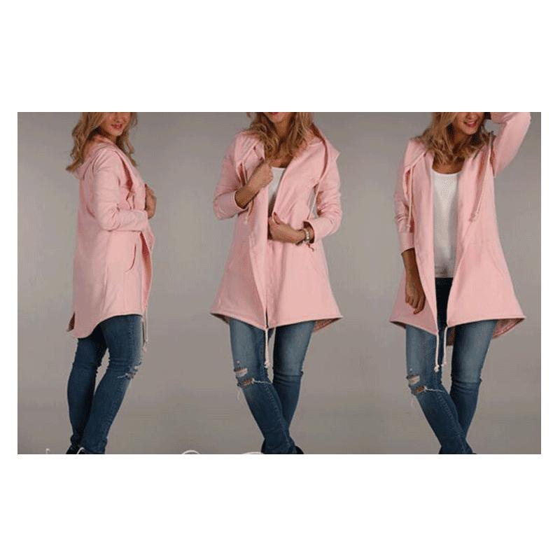 Womens Unicorn Hoodie Jacket Costume Pink Zipper Hooded Coat S M L XL Adult NEW