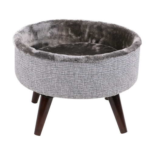 Unbranded One Source International Round Cat Bed with Woo...