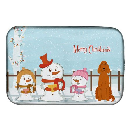 Merry Christmas Carolers Irish Setter Dish Drying - Christmas Room Setters