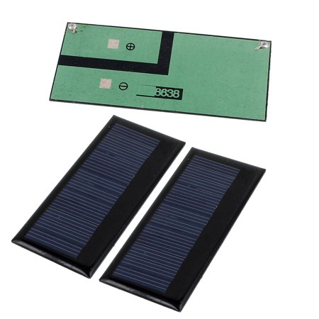 3Pcs DC 5.5V 0.3W Rectangle Energy Saving Solar Cell Panel Module for