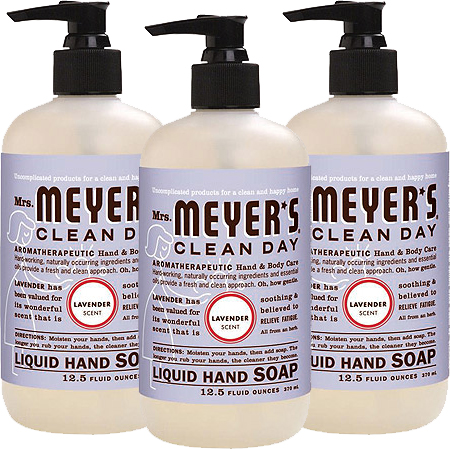 (3 Pack) Mrs. Meyer's Liquid Hand Soap, Lavender, 12.5 fl oz