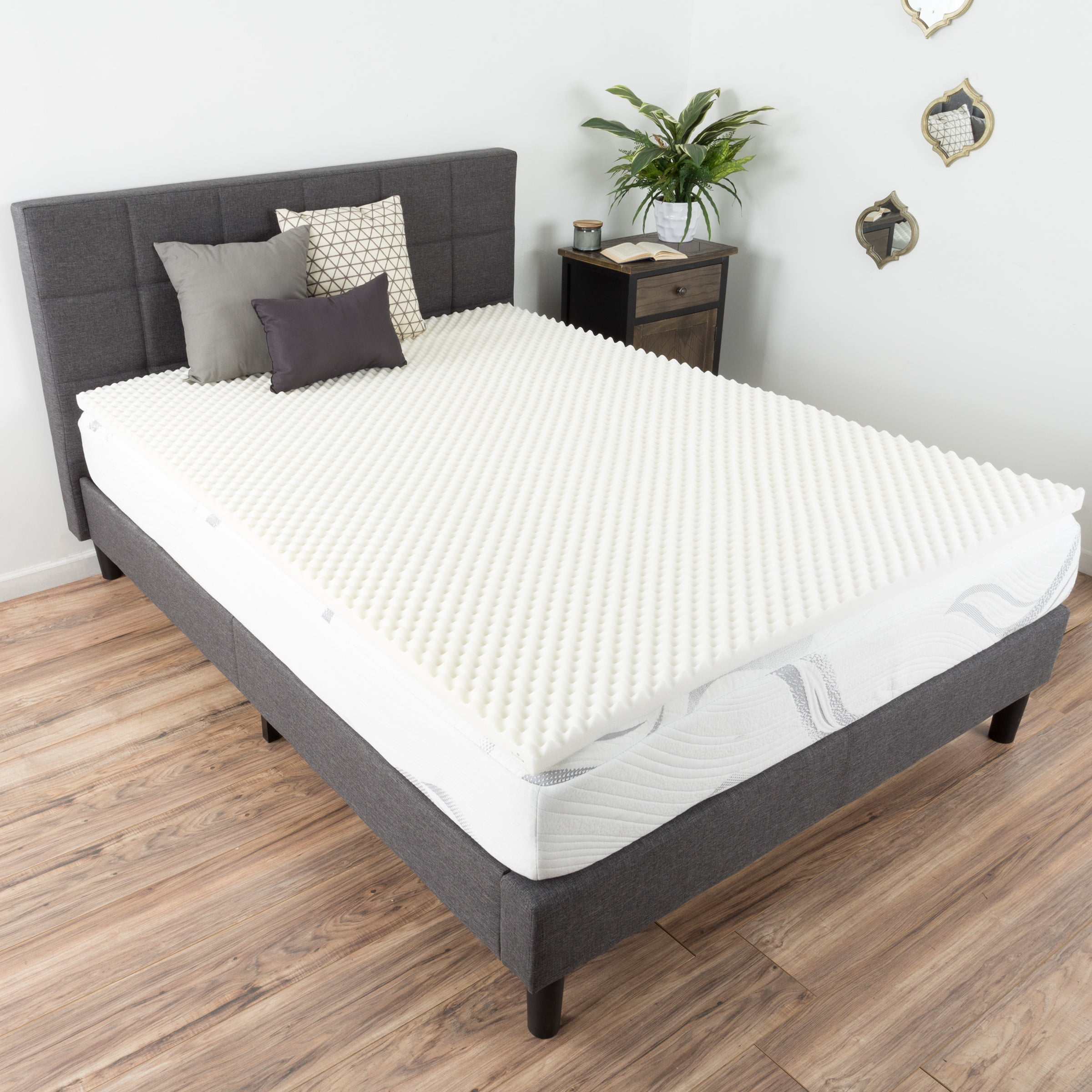 Egg Crate Memory Foam Mattress Topper Queen