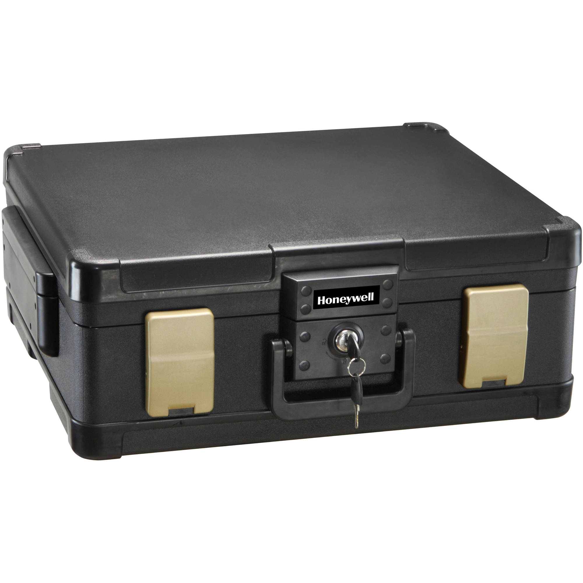 Honeywell 0.15 cu. ft. Waterproof 1-Hour Fire Chest with Key Lock, 1104
