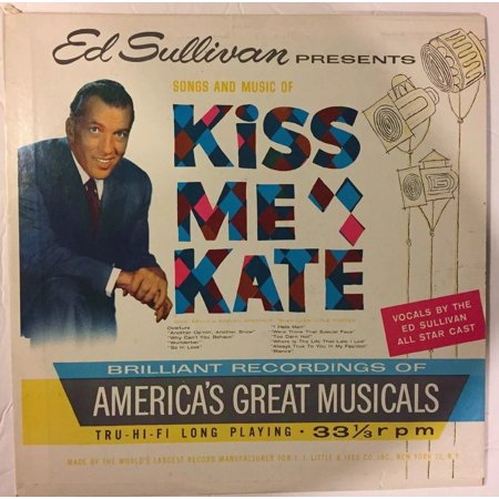 Ed Sullivan Presents Songs and Music of KISS ME KATE (LP, 1960) Ships In 24 Hrs (Kiss Halloween Songs)