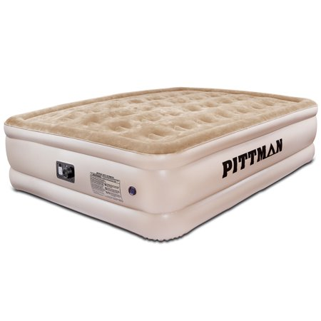 Pittman Outdoors Pittman Ultra Double High Queen Air Mattress with Built-in